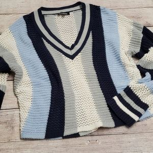 {Express} Preppy Stripe Sweater